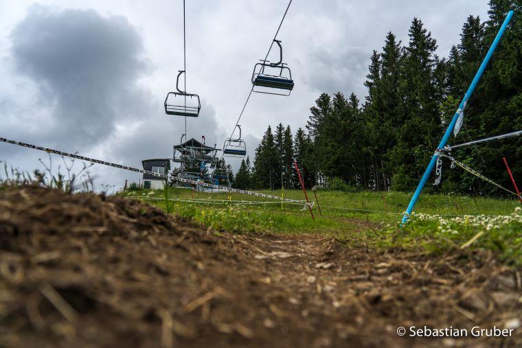 Semmering in der Nähe von Wien bot eine fordernde Downhill Strecke