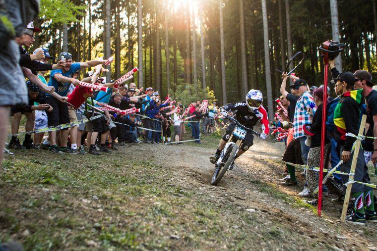 Gee Atherton won in Winterberg in 2013 © Thomas Dietze